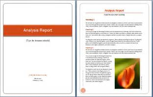 analysis report template word documents
