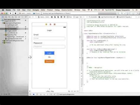 xcode tutorial login screen ios login and signup screen tutorial swift xcode 6