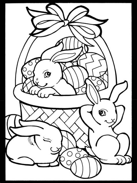 coloring pages free printable easter easter bunny 3 children s crafts color pages