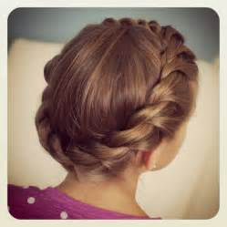 crown twist braid on hair crown rope twist braid updo hairstyles cute girls