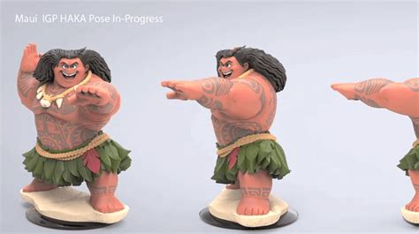 dsney infinity closer look at the cancelled quot moana quot figures for disney