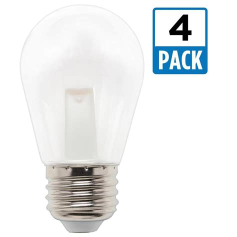 Led Light Bulb Pack Westinghouse 11w Equivalent Soft White S14 Led Light Bulb 4 Pack 3511620 The Home Depot