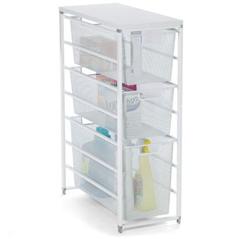 washer and dryer storage drawers white elfa mesh laundry storage the container