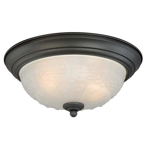 menards kitchen ceiling lights amalia 2 light 13 quot rubbed bronze ceiling light 2 pack