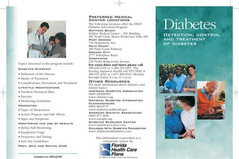 Diabetes Brochure Download Free Premium Templates Forms Sles For Jpeg Png Pdf Word Diabetes Brochure Templates Free