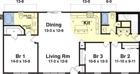 Single Wide Trailer Floor Plans Ashley By Simplex Modular Homes Ranch Floorplan