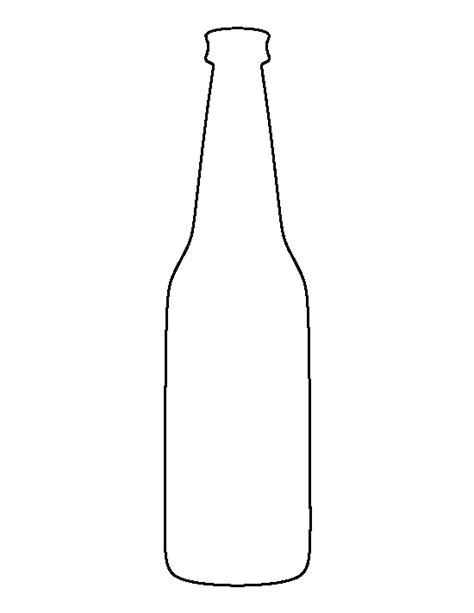 beer bottle pattern use the printable outline for crafts
