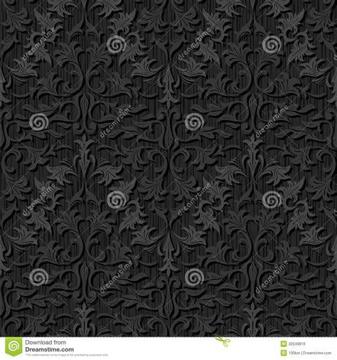 pattern black silk pack seamless black silk wallpaper pattern stock vector