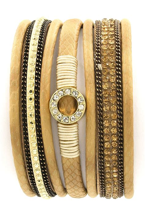 Faux Leather Bracelet faux leather rhinestone ring bracelet bracelets