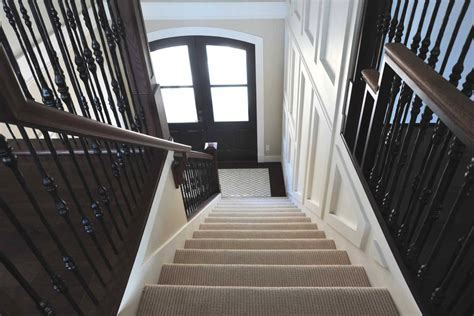 Chic shaw flooring in Entry Transitional with Patterned