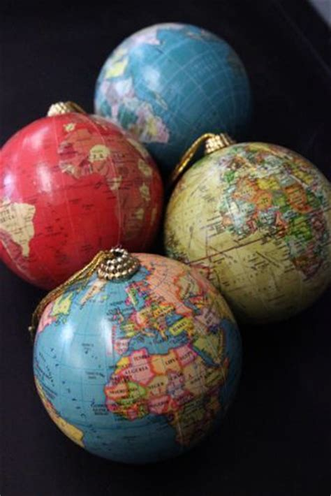 world globe tree ornaments christmas decorations