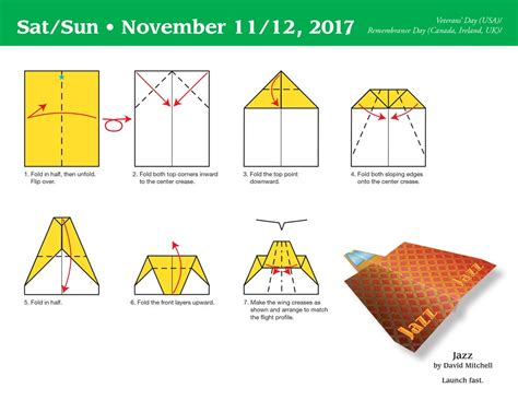 Paper Airplane Folding - paper airplane fold a day 2017 day to day calendar