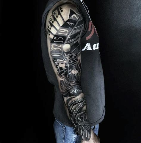 card sleeve tattoo designs 60 awesome sleeve tattoos for masculine design ideas