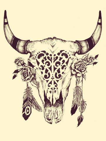 longhorn skull tattoo 25 best ideas about skull design on