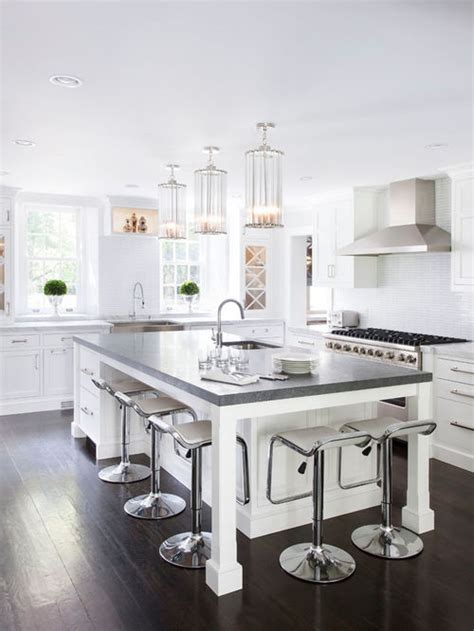 White Kitchens With Islands White Kitchen Island Houzz