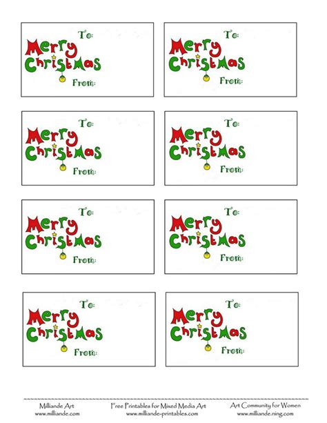 templates printable free free printable labels merry gift tag