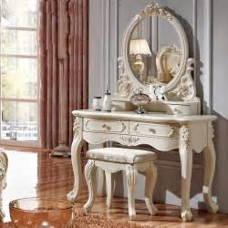Vanity Mirror Dressing Table Luxury Style Pricess Dresser Makeup Dressing Table