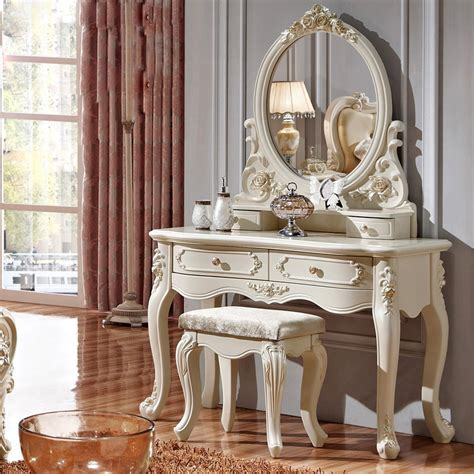 Table Vanity Mirror Aliexpress Buy Luxury Style Pricess Dresser Makeup Dressing Table With Mirror