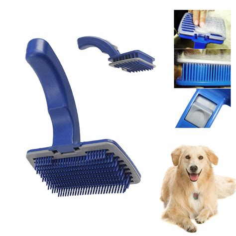 Best Shoo For Hair Shedding by Pet Cat Grooming Self Cleaning Slicker Brush Comb