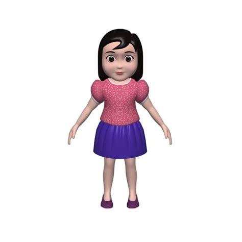 3d Tiny Girl | small girl 3d model