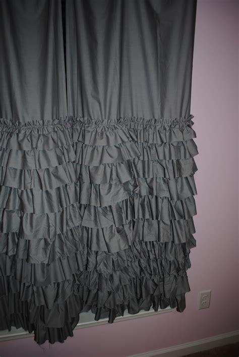 ruffle drapes a drop in the bucket layered ruffle curtain tutorial