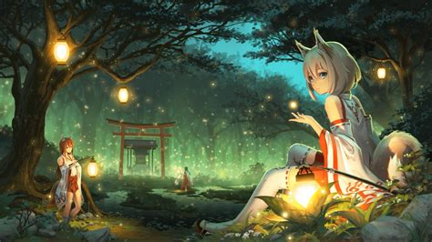 wallpaper engine anime girl download miko fox wallpaper engine free free wallpaper