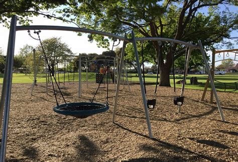 parks with swings anderson park playground napier city council
