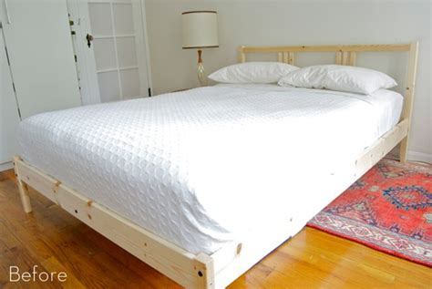 Diy Upholstered Bed Frame Before After A Diy Upholstered Bed Frame Curbly