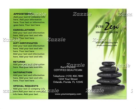 massage brochure templates download free premium