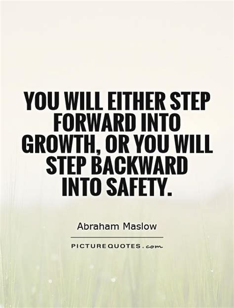 quotes about growth you will either step forward into growth or you will step