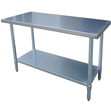 48 inch table sportsman sswtable 48 inch by 24 inch stainless steel work table gotchya co