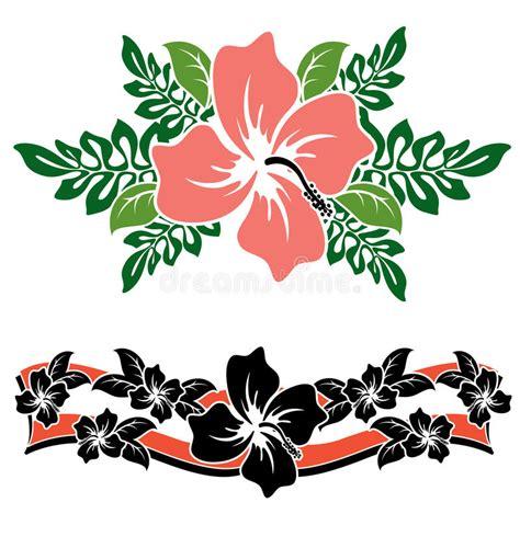disegni fiori hawaiani fiori hawaiani dell ibisco illustrazione vettoriale