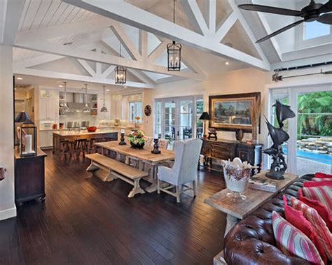 vaulted ceiling great room houzz