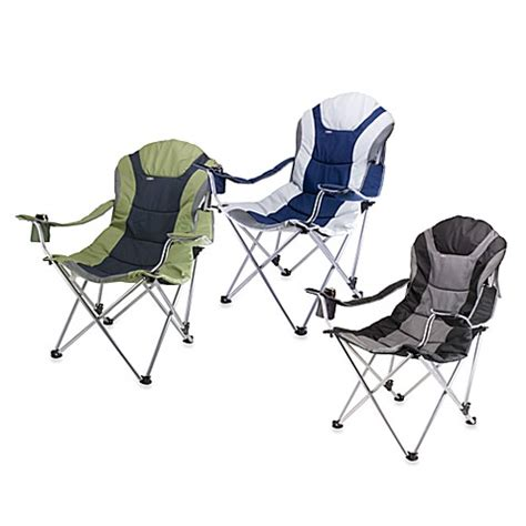 picnic time reclining c chair picnic time 174 reclining cing chair bed bath beyond