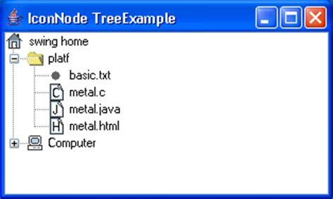 jtree exle in java swing icon node tree exle tree 171 swing components 171 java
