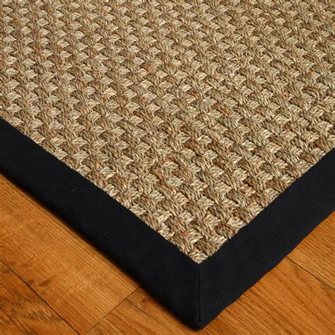 black rug natural area rugs seagrass lancaster black area rug