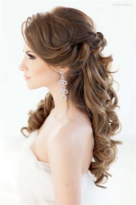 Wedding Hair Half Up Half trubridal wedding 20 awesome half up half