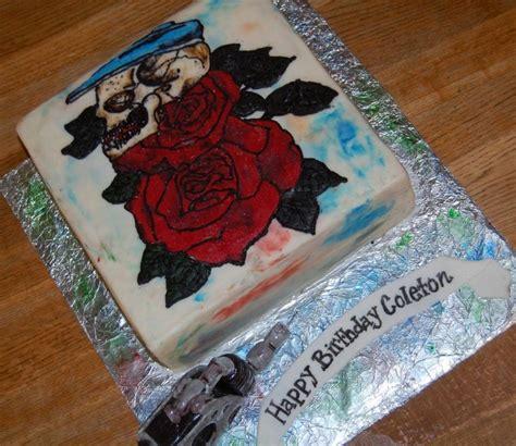 tattoo gun birthday cake tattoo birthday cake cakecentral com