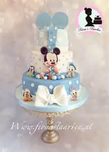 1st birthday baby mickey mouse cake by fionastaarten13 cakesdecor