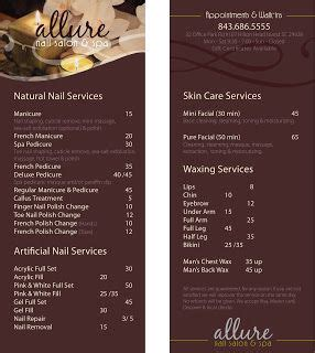 Best 25 Salon Menu Ideas On Pinterest Pedicure Menu Template