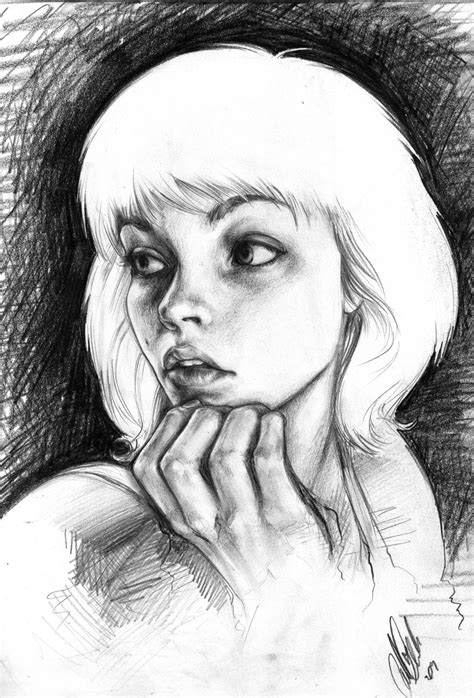 Portraits And Sketches by Pencilled Self Portrait By Carliihde On Deviantart