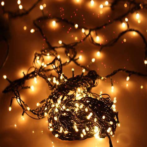 4 5m 100 led lights string warm white color 220v 5w