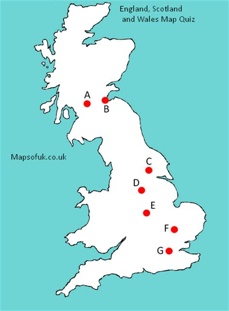 printable quiz about england uk cities picture quiz