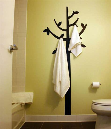 Exceptionnel Porte Serviette Coulissant Salle De Bain #2: porte-serviette-de-salle-de-bain-mural-un-arbre.jpg