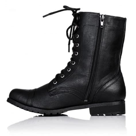 black lace up biker boots black lace up ankle boots flat boots and heels 2017