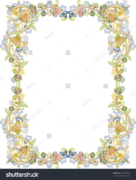 Abstrak Floral 1 abstract floral frame 1 stock vector illustration