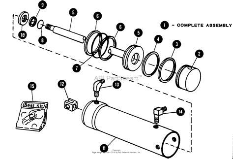hydraulic cylinder diagram snapper 1650 80424 16 hp hydro drive garden tractor mf