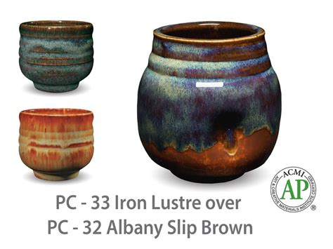 amaco glazes pc 33 iron lustre pc potter s choice