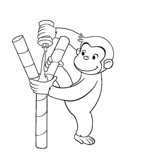 curious george coloring book coloring home