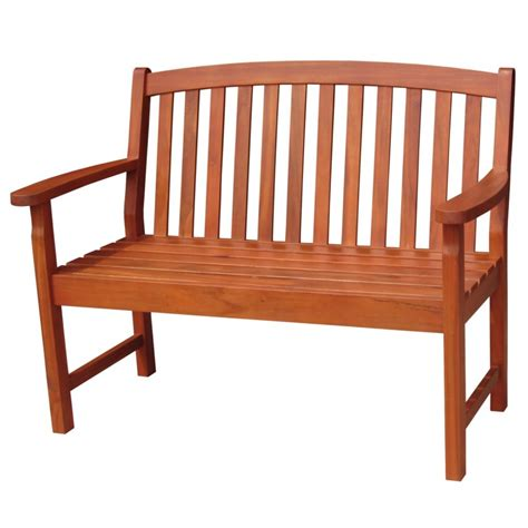 outdoor bench with back solid acacia 4 slat back style garden bench furniture